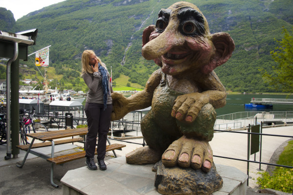 Тролль в Гейрангере поездка в Норвегию отчет