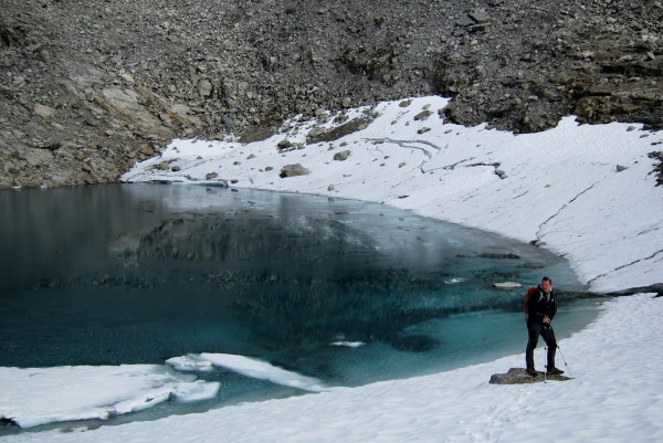 Озеро на маршруте к стене троллей Норвегия Ромсдаль
