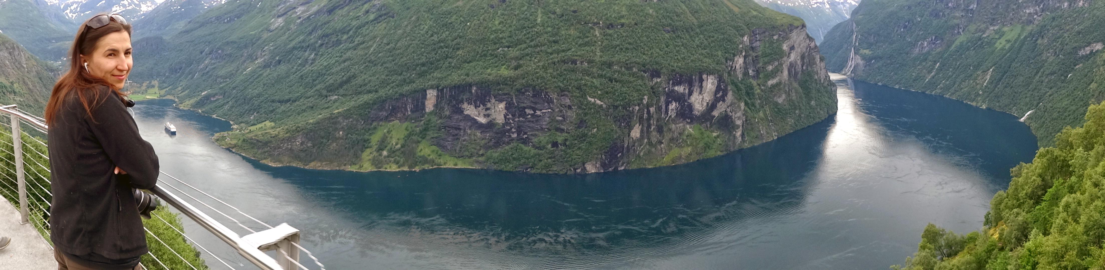 Гейрангерфьорд панорама с Дороги Орлов