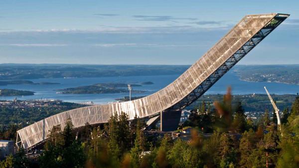Осло музей лыж Холменколлен трамплин