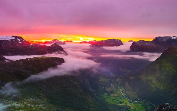 Панорама с Далснибба Норвегия