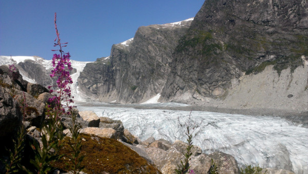 Ледник в Норвегии