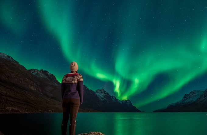 Тур северное сияние в Норвегии.