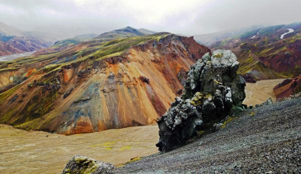 Ландманналагуар. Цветные горы. Исландия