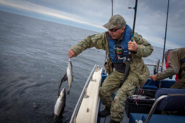 Рыбалка в Норвегии улов рыбака