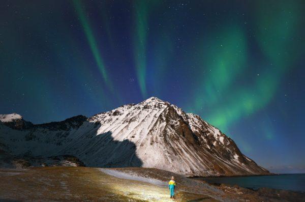 Северное сияние на Лофотенских островах Норвегия тур