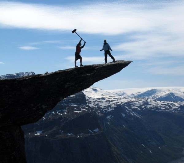 Молот тора на языке тролля Норвегия