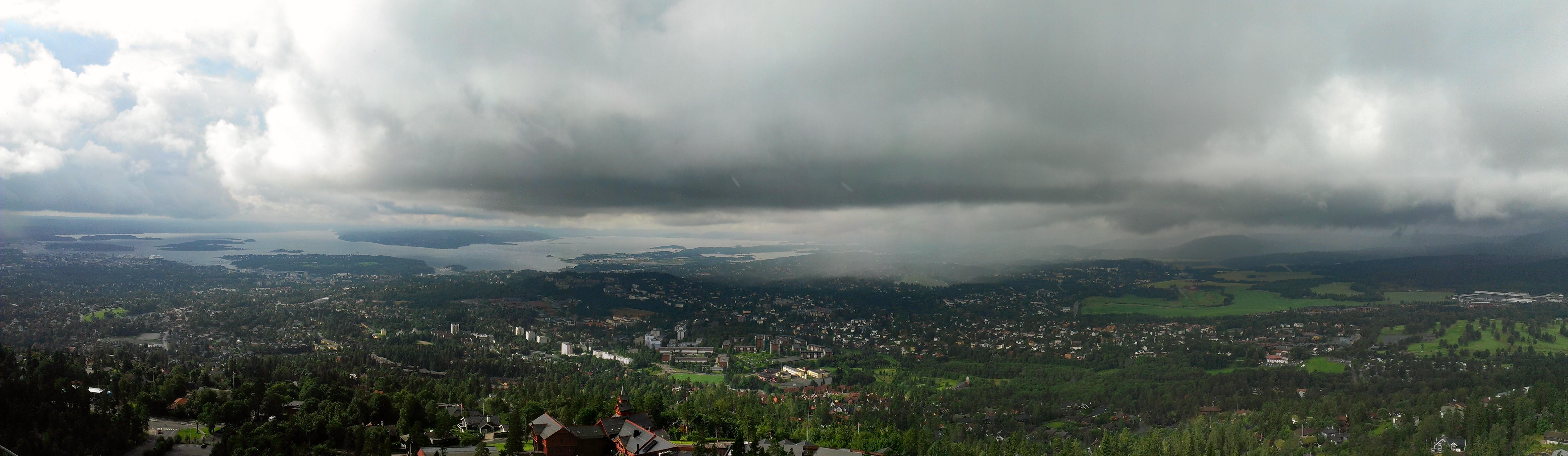 Панорама с Холменколлена на Осло