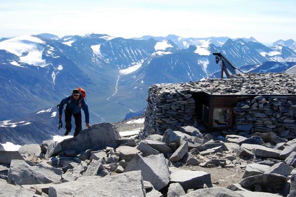 Кафе на Галлхёпигген (Galdhopiggen) 2,469 м - самая высокая вершина скандинавских гор.