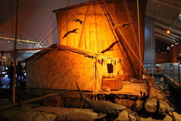Музей Кон Тики бальсовый плот в музее Осло
