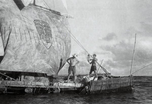 Кон Тики черно белая фотография