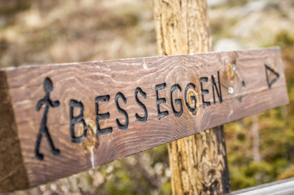 Бессегген указатель маршрута